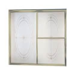 sterling bathtub doors sterling deluxe 59 3 8 in x 56 1 4 in framed sliding
