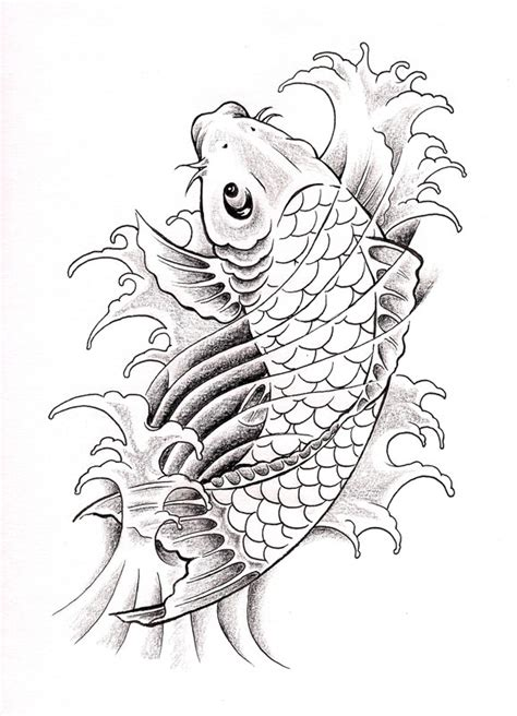 Two Koi Fish Outline by Kecebong Ideas By Caroline Lindsay