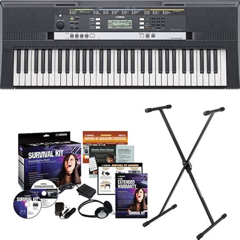 portable keyboards bh photo video manual guide yamaha psr e243 portable keyboard kit b h photo video