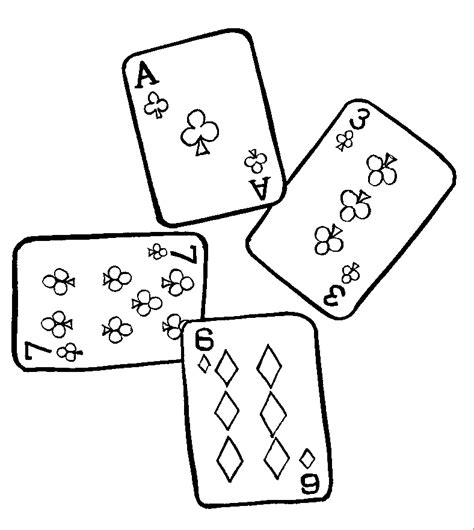 coloring cards deck of cards coloring pages coloring pages