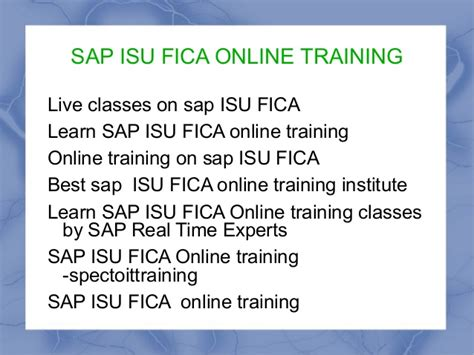tutorial sap isu best sap isu fica online training