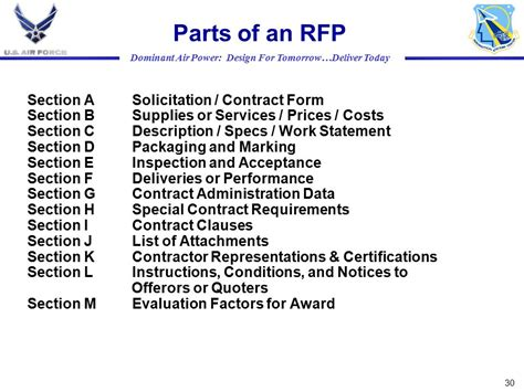 rfp sections source selection processes ppt download