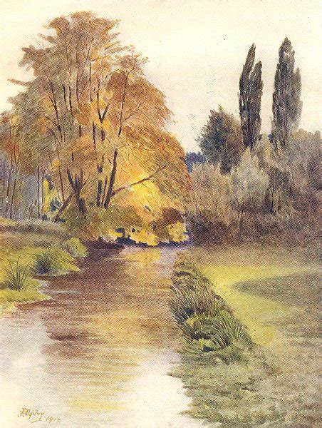 wandle vintage surrey view on the wandle river vintage print 1914