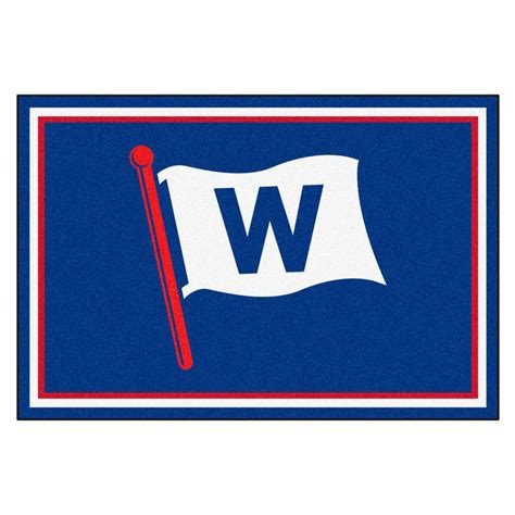 mlb rugs fanmats mlb chicago cubs blue 5 ft x 8 ft area rug 21906 the home depot