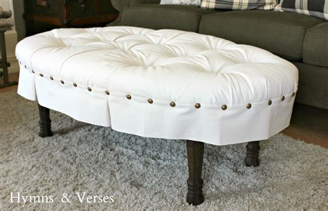 diy tufted ottoman hymns and verses winter living room diy oval button