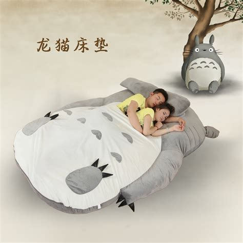 giant totoro bed large matelas totoro single and double bed giant totoro bed mattress cushion plush