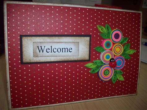 Welcome Handmade Cards - welcome dr sue s handmade