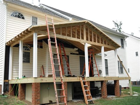 a frame roof framing a porch roof home design ideas