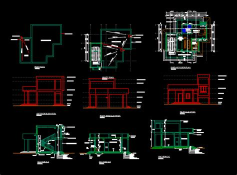 house   level dwg plan  autocad designs cad