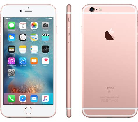 Iphone 6s 64gb Rosegold apple iphone 6s plus 64 gb gold deals pc world