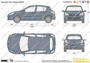 Renault Clio Dimensions The Blueprints Vector Drawing Renault Clio 5 Door