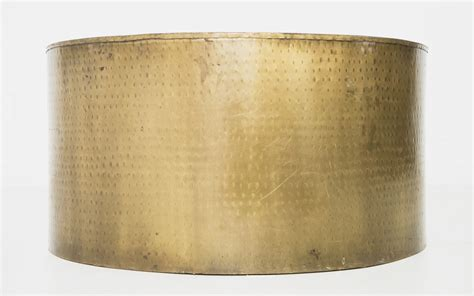 brass drum coffee table brass drum coffee table patina