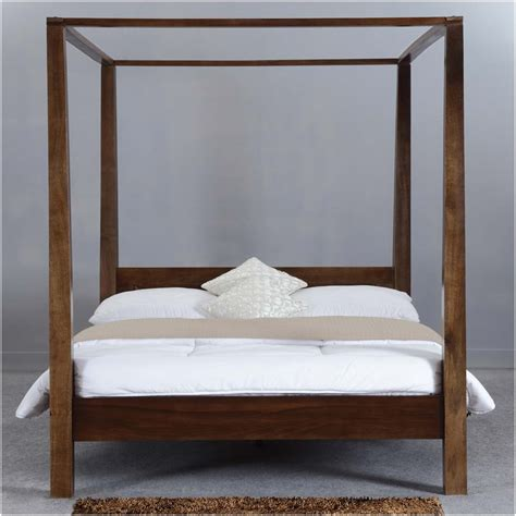 Wood Canopy Bed Modern Rustic Philadelphia Solid Wood Canopy Bed