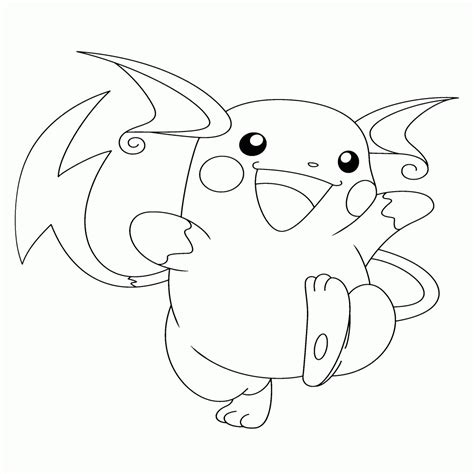 raichu coloring page raichu coloring page coloring pages for children