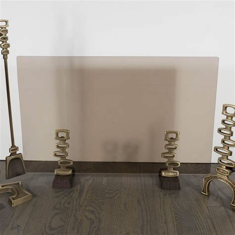 mid century modern fireplace screen mid century modern bronze fireplace suite of