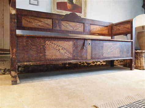 settle bench seat settle bench seat pew victorian pine box seat antiques atlas