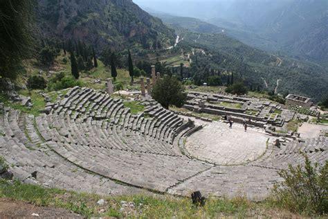 Landscape Archeology Definition Theatre Of Delphi Illustration Ancient History