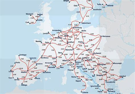 rail map of europe maps update 1024752 travel in europe map
