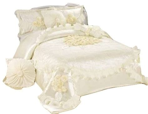 victorian comforter sets king 6 piece white sweet victorian satin comforter set