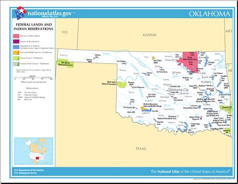 indian reservations usa map map of oklahoma map federal lands and indian reservations