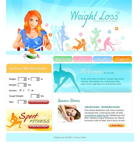 Weight Loss Website Template 17798 By Wt Website Templates Weight Loss Testimonial Template