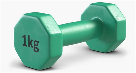 Dumbell Plastic 3d Plastic Dumbbells 2 Model