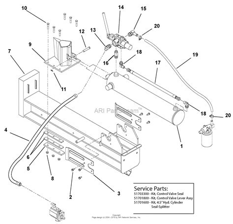diagram of how to put a ton in ariens 917001 000101 000999 log splitter 27 ton