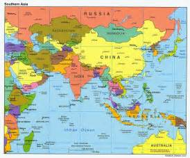 Asia Political Map by World Map Political Cities South Asia Political Map