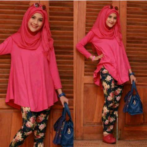 Setelan Kaos Spandek Tiger Pink baju gamis setelan remaja alysa p1111 jilbab gaul
