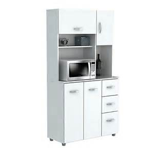 Microwave Storage Cabinet Inval Storage Cabinet With Microwave Stand 6 Shelves 66 H X 35 W X 15 D Laricina White By Office