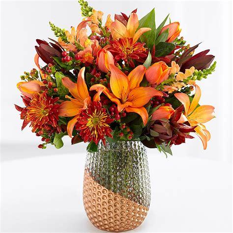 Fall Vase Arrangements by Fall Flower Arrangements Autumn Bouquets Proflowers