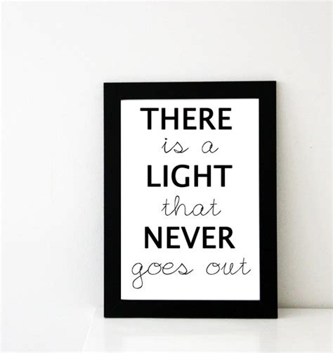 There Is A Light That Never Goes Out Meaning by The Smiths Poster There Is A Light That Never Goes Out
