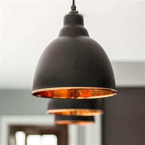 hammered copper pendant light brindley pendant light in black hammered copper period