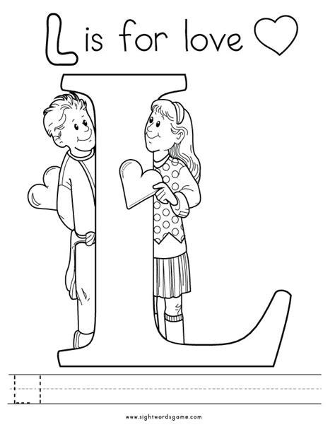 letter l coloring pages for preschoolers coloring pages