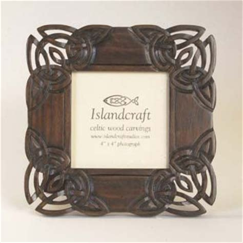 4 Inch Picture Frame by 4 X 4 Inch Square Wooden Celtic Picture Frame