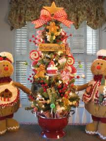 Gingerbread Decorated Tree by Primitive Gingerbread Cookie Baking Tree In Colander W