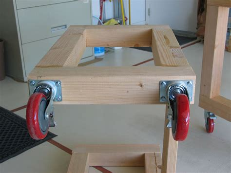 work bench casters diy workbench retractable casters woodguides