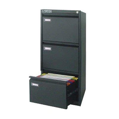 cassettiera porta cartelle sospese kubo 3 cassetti nero