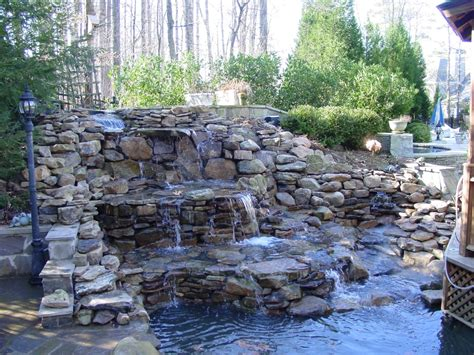 backyard pond ideas with waterfall pond blog backyard blessings