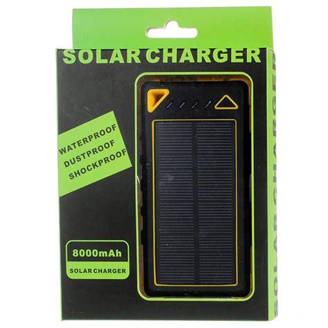 Solar Baturaja 1 Pcs Ready Stok dual usb waterproof solar charger power bank yellow