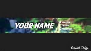 Minecraft Channel Template by Minecraft Channel Template 3 Free Photoshop