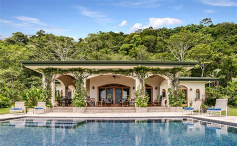 luxury spanish style homes spanish style ocean view home in a rainforest setting
