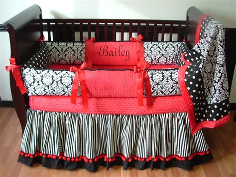 black crib bedding red black damask baby bedding 1540 325 00