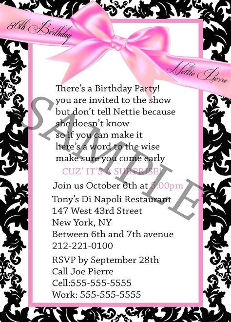 exles of 50th birthday invitations sle 50th birthday invitations