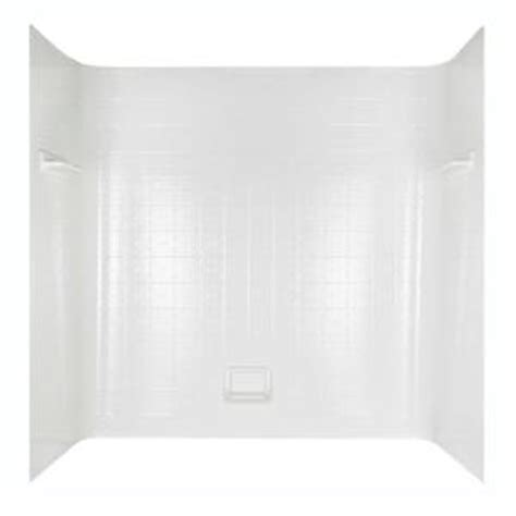 bathtub surrounds home depot tile seamless bathtub wall set in white 36980 the home depot