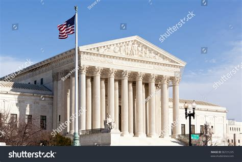 Superior Court Of Dc Search Facade Of Us Supreme Court In Washington Dc On Day