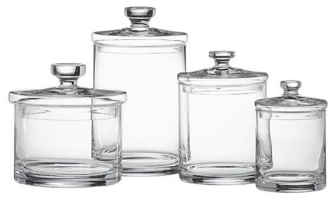 glass canisters for bathroom glass canisters set of 4 transitional bathroom