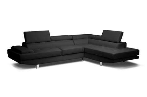 affordable modern sectional sofa baxton studio selma black leather modern sectional sofa