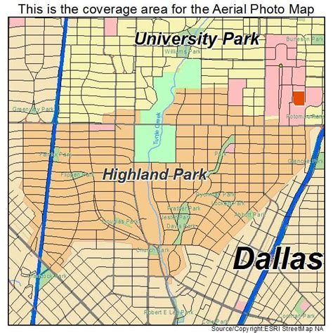 map of highland park texas aerial photography map of highland park tx texas