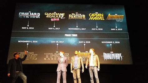 film marvel annunciati annunciati ufficialmente tutti i film marvel fino al 2019